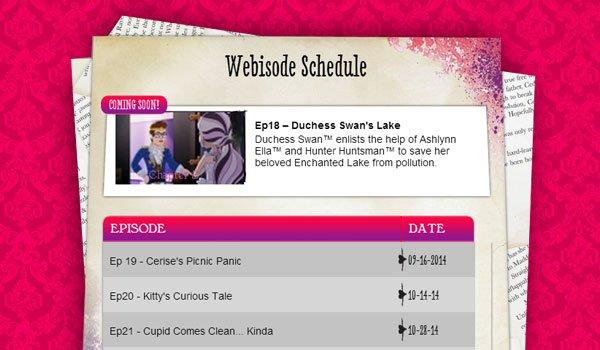 Ever After High Schedule ep 18