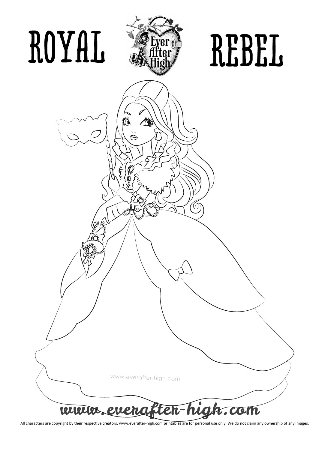 apple white coloring pages | Apple White Thronecoming Coloring Page | Ever After High