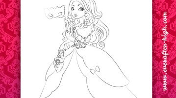 Coloring Ever After High Thronecoming Apple White