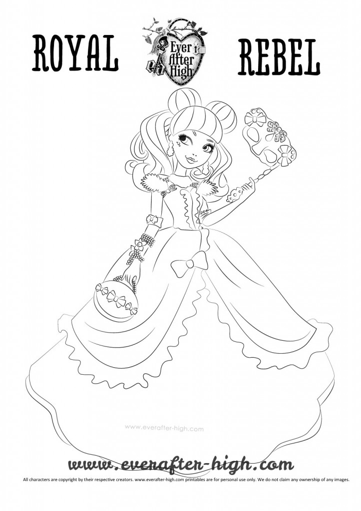 Blondie Lockes Thronecoming dress coloring page
