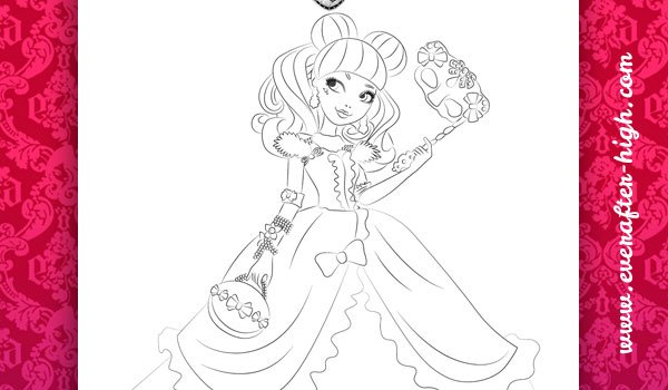Coloring Page of the Blondie Lockes Thronecoming