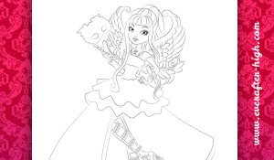 Coloring Page of the C.A. Cupid Thronecoming