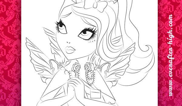 Coloring page of the Faybelle Thorn Face