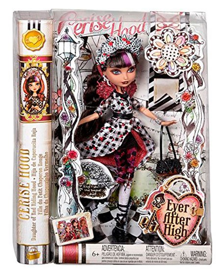 Cerise Hood Spring Unsprung Doll Box