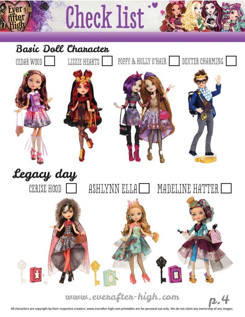 Doll Checklist 3