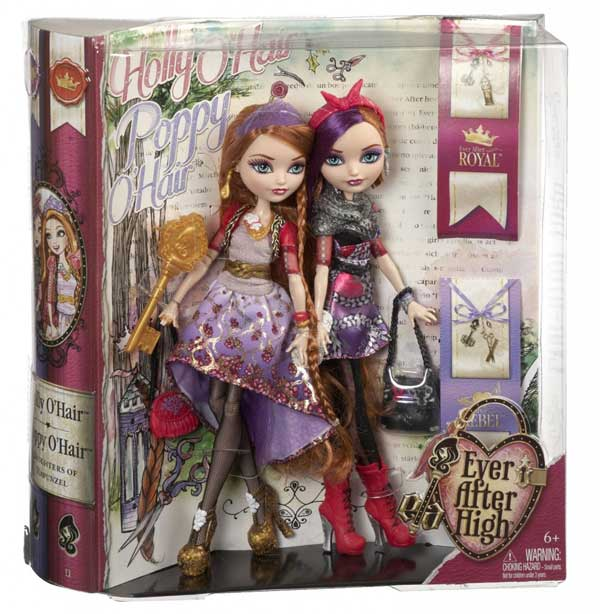 Holly and Poppy O'Hair basic doll box